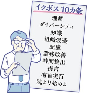 人生初のボスとなり、あたふた奮闘記。役に立った「イクボス10か条」(樋口一郎)